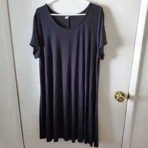 Old Navy Black Short Sleeve Swing Dress XL